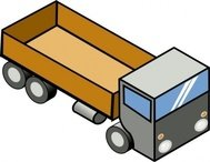 isometric,truck,remix,lorry,vehicle,clip art,media,public domain,image,svg