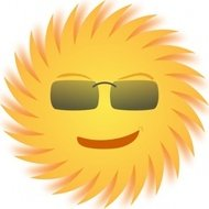 sun,cartoon,smile,glasses,media,clip art,public domain,image,png,svg