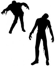 zombi,halloween,horror,zombie,silhouette,people,dead,undead,monster