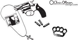 object,tough,guy,weapon,gun,equipment,revolver,necklace,four,finger,dollar,bill