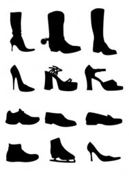 shoe,silhouette,cowboy,boot,lady,high,heel,skate