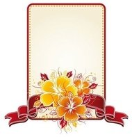 bouquet,hibiscus,rectangular,label