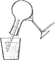 thermal,expansion,grayscale,science,classroom,experiment,air,heat,bunsen burner,round bottomed flask,trace,bubble,diagram