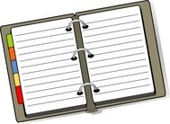 open,diary,notebook,planner,colour,office,education,media,clip art,how i did it,public domain,image,png,svg