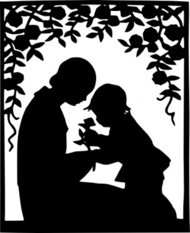 mother,child,silhouette,clip
