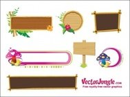 banner,frame,banners_and_frames,flower,leaf,mushroom,wood,wooden sign board