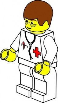 pitr,lego,town,doctor,people,toy,figure,minifig,job,medical,media,clip art,public domain,image,png,svg