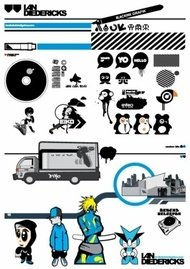 eiko,collection,human,city,car,turntable,truck,anime,cartoon,miscellaneous,object,cartoon,object