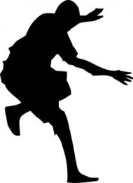 jumping,silhouette,clip