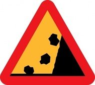 falling,rock,from,roadsign,clip
