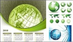 earth,theme,calendar,map,globe,year,green,world,blue,letter,2010,letter