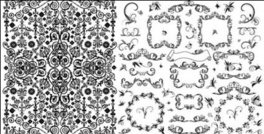 vector lace black,practical,black,and,white,lace,pattern,vector