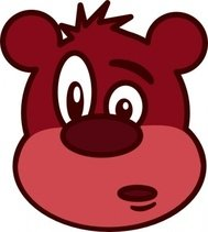 bear,head,cartoon,animal