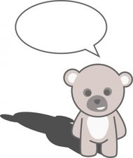 stellaris,cute,teddy,bear,cartoon,speech,bubble,media,clip art,public domain,image,png,svg