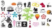 object,stock,mixed,bell,brush,butterfly,chick,bamboo-tree,tongue,doll,ice-cream,weeding-ring,sign,logo,chick,doll,logo