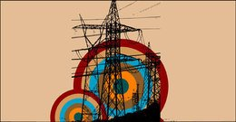 retro,electric,tower,abstract