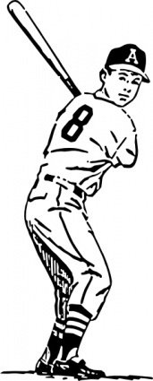 baseball,player,people,boy,batter,sport,game,drawing,line art,black and white,contour,coloring book,outline,wikimedia common,psf
