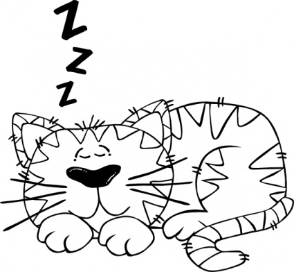 Animals Cat Outline People Sleeping Face Person Cartoon ...