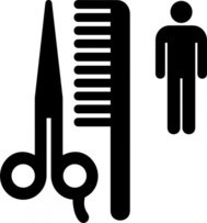 symbol,sign,black and white,aiga no bg,map symbol,silhouette,barber,comb,scissors,media,clip art,externalsource,public domain,image,svg,aiga