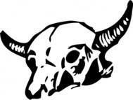 skull,cow,cattle,western,media,clip art,externalsource,public domain,image,png,svg