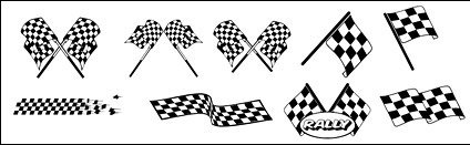 black,white,checkered,racing,flag,vector,material