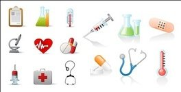 magnifying glass,medical,related,icon,material,container,thermometer,microscope