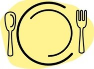 iammisc,dinner,plate,with,spoon,fork,clip