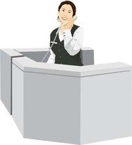 business,woman,clerk,clerical,on,phone,reception,receptionist,desk,at,work