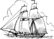 brig,maritime,sailing,ship,sailship,drawing,line art,black and white,contour,coloring book,outline,wikimedia common,psf
