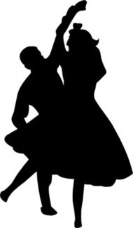 dancing,couple,fifties