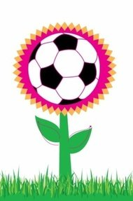 soccer,flower,sport,ball,grass,design