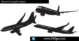 transport,airplane,silhouette,free,vector