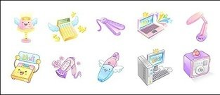 electronic,product,cute,icon,vector,material