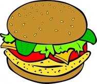 fast,food,lunch,dinner,menu,fastfood,colouring book,burger,bun,hamburger,chicken,cheese