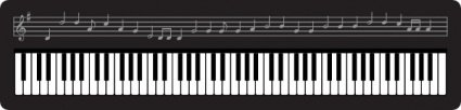 organ,keyboard,cartoon,music note,music staff,piano,key