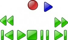 player,button,deck,record,play,forward,rewind,pause