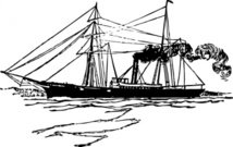 steam,ship,maritime,sailing,cutter,marine,coast gaurd,media,clip art,externalsource,public domain,image,png,svg