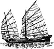 junk,ship,editorial pick,maritime,sailing,drawing,line art,wikimedia commpns,black and white,contour,outline,media,clip art,externalsource,public domain,image,png,svg,psf