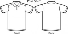 polo,shirt,template,clip