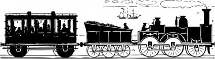 century,train,transportation,car,silhouette,ship,scene,railroad,media,clip art,externalsource,public domain,image,png,svg