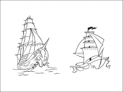 pirate ship sail template - vector pirate ships clip arts clip art