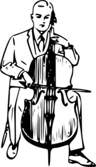 playing,cello,people,man,music,musical instrument,string instrument,drawing,line art,black and white,contour,outline,media,clip art,externalsource,public domain,image,png,svg,wikimedia common,psf,wikimedia common