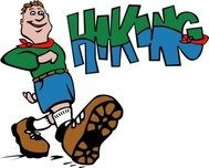 hiker,hiking,people,camping,hike,outdoors,cartoon,man,colouring book,abiclipart