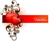 object,valentine,heart,ribbon,swirl,background