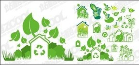 green,theme,material,ecology,plant,vectors-ecology,set,vector ecology