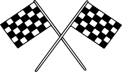 Motor Racing Flags Clip Art_431185on Electric Motor Symbol Clip
