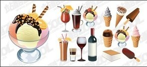 cream,drink,vector,material