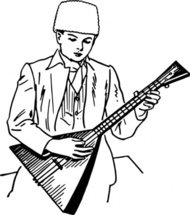 playing,balalaika,people,music,musical instrument,string instrument,boy,drawing,line art,black and white,contour,coloring book,outline,musical instrument,string instrument,wikimedia common,psf