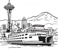space,needle,ferry,landscape,geography,travel,seattle,media,clip art,externalsource,public domain,image,png,svg