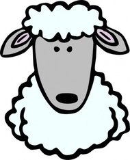 sheep,head,animal,mammal,cartoon